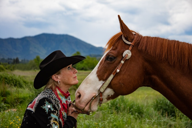 Carole & horse